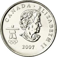 Monnaie, Canada, Elizabeth II, Curling, 25 Cents, 2007, Royal Canadian Mint - Canada