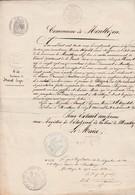 Acte De Naissance 1863 / HURET Joseph à Montbozon 70 / Cachets Mairie Montbozon Et Juge De Paix - Historical Documents