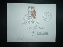 LETTRE TP GRAND DUC 0,65 OBL.19-4 1972 PARIS 01 PHILATELIE - Owls