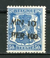 BE   724k    XX   ---   MNH  --   Parfait état.  --  Cachet MIN 10 PER 100 Peu Courant - 1946 -10%