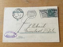 FL2845 Deutsches Reich Ganzsache Stationery Entier Postal P 64X Von Mannheim Nach Grünstadt - Deutschland