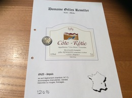 Etiquette De Vin 1999 «CÔTE-RÔTIE - Gilles REMILLER - Ampuis (69)» - Côtes Du Rhône