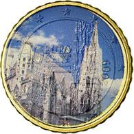 Autriche, Cathédrale Vienne, 10 Euro Cent, 2009, Colorised, SUP, Laiton - Autriche