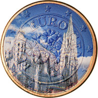 Autriche, Cathédrale Vienne, 5 Euro Cent, 2009, Colorised, SUP, Copper Plated - Autriche