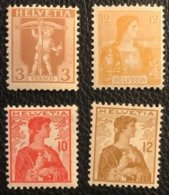 Schweiz 1907/1909 Zumstein-Nr. 102/105/120 * Ungebraucht Mit Falz Und 121 ** Postfrisch - Nuovi