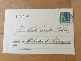 FL2845 Deutsches Reich Ganzsache Stationery Entier Postal P 67F Von Berleburg Nach Höhscheid - Deutschland