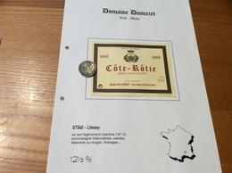 Etiquette De Vin 1998 «CÔTE-RÔTIE - Madame Pierre DUMAZET - Limony (07)» - Côtes Du Rhône