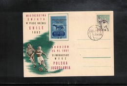 Poland / Polska 1961 World Football Cup Chile Qualification Match Poland - Yugoslavia Interesting Postcard Scarce - Fußball-Weltmeisterschaft