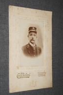 Ancienne Photo Originale,habitant De Courcelles,photo Carton,photographe Camille Balland,16,5 Cm./10,5 Cm. - Old (before 1900)