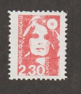 Variétés - 1989  - Type Briat  -  N° 2614e - 2f 30 Rouge -  Faux De Marseille Dent 11   -   Neuf Sans Charnière  - - Variétés Et Curiosités