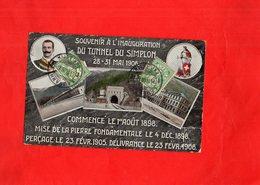G0204 - Souvenir à L'Inauguration Du Tunnel Du SIMPLON 28-31 Mai 1906 - SUISSE - Switzerland