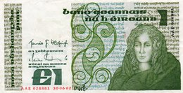 IRELAND 1 POUND 1982 P-70c.1 XF+AUNC  SERIE  AAE 028881 - Ireland