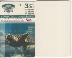 JORDAN - Sea Turtle, Nature In Jordan, 08/02, Printing Test Card Of Front And Back Side(2 Pieces, Reverse White) - Jordania