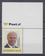 Österreich Meine Marke Motiv Fussball Franz Beckenbauer 80. Geb. Wert 0,55 **  - Sellos Privados