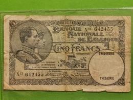 Billet, Cinq Francs 1938. - [ 2] 1831-... : Reino De Bélgica
