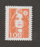 Variétés - 1990  - Type Briat  -  N° 2620a  - 1f Orange  -  Sans Phosphore    -   Neuf Sans Charnière  - - Variétés Et Curiosités