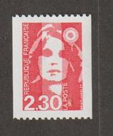 Variétés - 1990  - Type Briat  -  N° 2628a  - 2 F 30 Rouge - N° Rouge Au Dos (245)    -   Neuf Sans Charnière  - - Variétés Et Curiosités