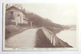 Cpsm Petit Format St Saint Fargeau Chemin De Halage Propriété La Pécherie - TOS07 - Saint Fargeau Ponthierry