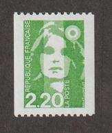 Variétés - 1991  - Type Briat  -  N° 2718a  = 2 F 20 Vert  - N° Rouge Au Dos (100)    -   Neuf Sans Charnière  - - Variétés Et Curiosités