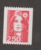 Variétés - 1991  - Type Briat  -  N° 2719c  = 2 F 50 Rouge  - Gomme Brillante  -   Neuf Sans Charnière  - - Variétés Et Curiosités
