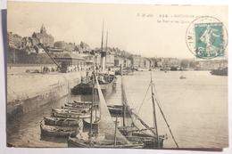 Cpa Boulogne Sur Mer Le Port Et Les Quais 1911 - TOS07 - Boulogne Sur Mer