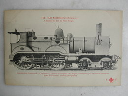 FERROVIAIRE - Locomotive - Coll. F. Fleury - BELGIQUE - Machine Compound à 4 Roues Construite Par John Cockerill Seraing - Trains