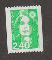 Variétés - 1993  - Type Briat  -  N° 2823 A  = 2 F 40 Vert  - N° Rouge Au Dos (305)  -   Neuf Sans Charnière  - - Variétés Et Curiosités