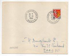 """1966 --cachet Commémoratif """" FOIRE COMMERCIALE--NANTES-44 """"...type Blason Agen--mention  IMPRIMES - Marcophilie (Lettres)"""