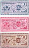 MACEDONIA 10,25,50 DENARI 1992-1a,2a,3a  UNC - Macedonia