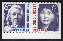 Sweden 1998 / Nobel Prize - Nadine Gordimer And Sigrid Undset / MNH / Mi 2082-2083 - Ungebraucht
