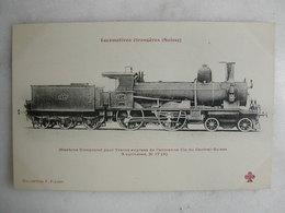 FERROVIAIRE - Locomotive - Coll. F. Fleury - SUISSE - Machine Compound Pour Trains Express - Cie Du Central Suisse - Trains