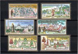Russia 2003 . Monasteries 2003. 6v X 5.00. Michel # 1068-73 - Unused Stamps