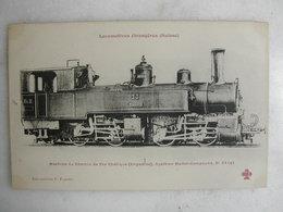 FERROVIAIRE - Locomotive - Coll. F. Fleury - SUISSE - Machine Du Chemin De Fer Rhétique (Engadine) - Trains