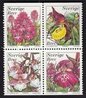 Sweden 1999 / Orchids / MNH / Mi 2114-2117 - Suède
