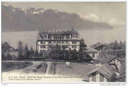 Carte Postale Suisse   Glion  Hotel Du Righi Vaudois Et Les Montagnes De La Savoie Trés Beau Plan - Switzerland