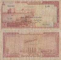 Lebanon / 25 Livres / 1961 / P-55(b) / FI - Libano