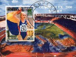 Sydney Sommer-Olympiade 2000 Rumänien Block 315 O 3€ Läuferin Bloque Hoja Olympics Bloc Sprint S/s Sheet Bf Romania - Used Stamps