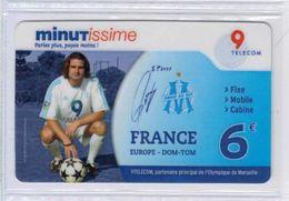 Top Collection - 9TELECOM - S. Pérez - Olympique De Marseille - 6 € - Voir Scans - Francia