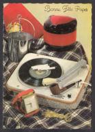 96375/ FETE DES PERES, Années Vintage, Cadeaux D'époque, Cigarettes, Pipe, Electrophone, Réveil De Voyage - Autres