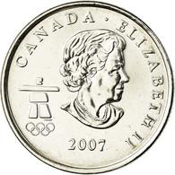 Monnaie, Canada, Elizabeth II, Biathlon, 25 Cents, 2007, Royal Canadian Mint - Canada
