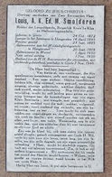 Louis, A.K.Ed.M. Smolderen Gierle 24/10/1872, Priester 23/09/1895, Aalmoezenier Hoogstraten En Wortel - Gierle 7/11/1946 - Todesanzeige