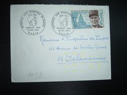 LETTRE TP MARECHAL JUIN 0,45 OBL.28 FEV. 1970 PARIS PREMIER JOUR - Guerre Mondiale (Seconde)