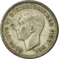 Monnaie, Australie, George VI, Sixpence, 1950, TB+, Argent, KM:45 - Sixpence