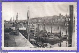 Carte Postale 62. Boulogne-sur-mer  Les Quais  Très Beau Plan - Boulogne Sur Mer