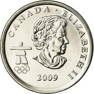 Monnaie, Canada, Elizabeth II, Cross-country Skiing, 25 Cents, 2009, SPL, Nickel - Canada