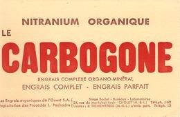 FRANCE - Buvard - Agriculture - Elevage - Le Carbogone Nitranium Organique - Engrais Complet - Agriculture