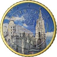 Autriche, Cathédrale Vienne, 50 Euro Cent, 2009, Colorised, SUP, Laiton - Autriche