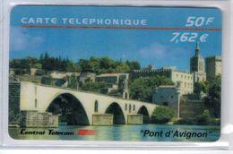 """Top Collection - CENTRAL TELECOM - Pont D'Avignon - 50 F/ 7,62 € - Mention """"Pont D'Avignon Au Recto"""" - Voir Scans - France"""
