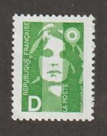 1991 - Marianne De Bréat  - N° 2711D + 2712D  -   Vert Et Rouge -    Neuf Sans Charnière - - France