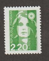 1991 - Marianne De Bréat  - N° 2714 -  2 F 20  Vert -    Neuf Sans Charnière - - France